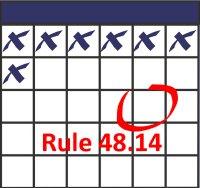 Rule 48 on calendar