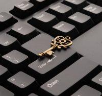key on a keyboard