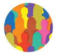 multi coloured shapes of people