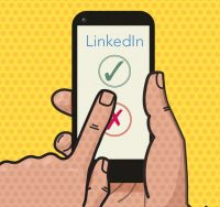 smartphone with linkedin