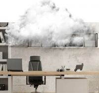 cloud over desk